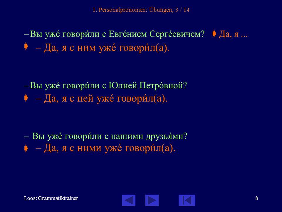 Loos: Grammatiktrainer8 1.