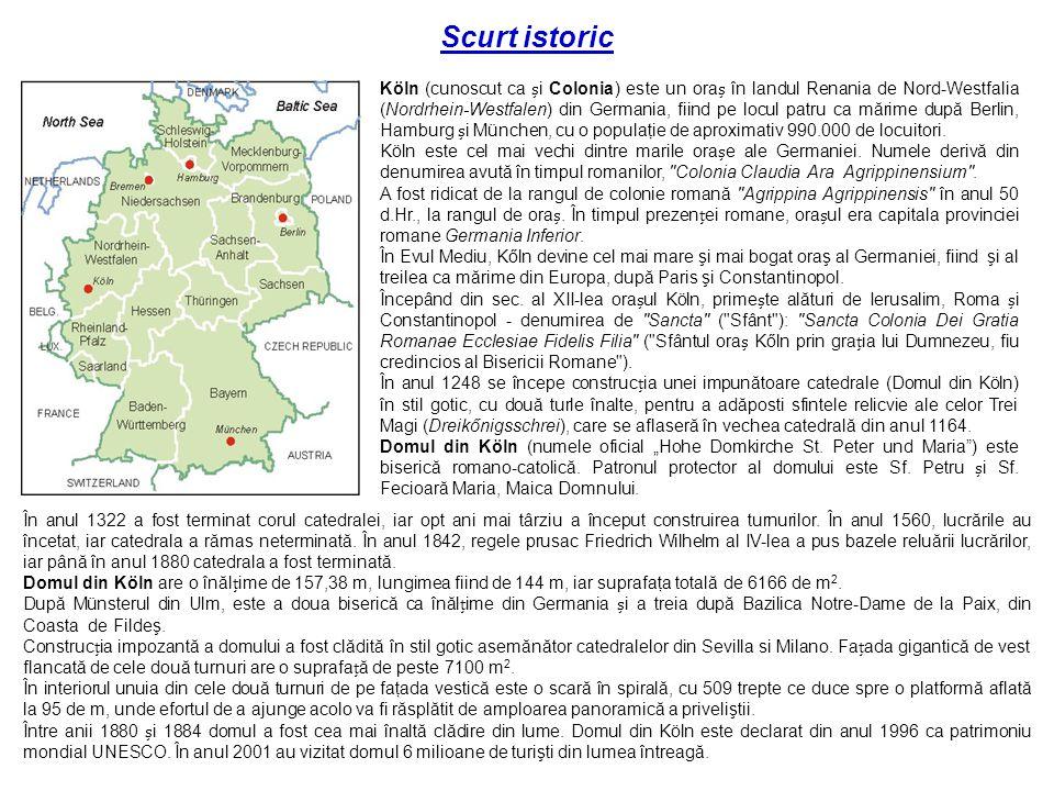 Kurze Geschichte Köln (auch als Colonia bekannt) befindet sich in Nordrhein-Westfalen in Deutschland, und ist die viertgrößte Stadt nach Berlin, Hamburg und München, mit einer Bevölkerung von ca.