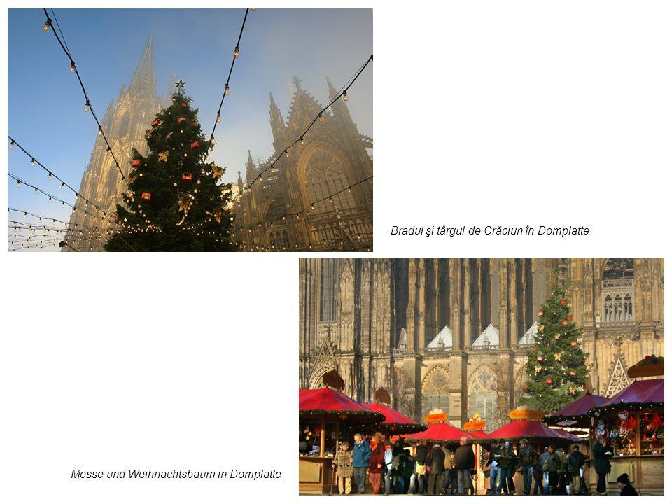 Bradul şi târgul de Crăciun în Domplatte Messe und Weihnachtsbaum in Domplatte