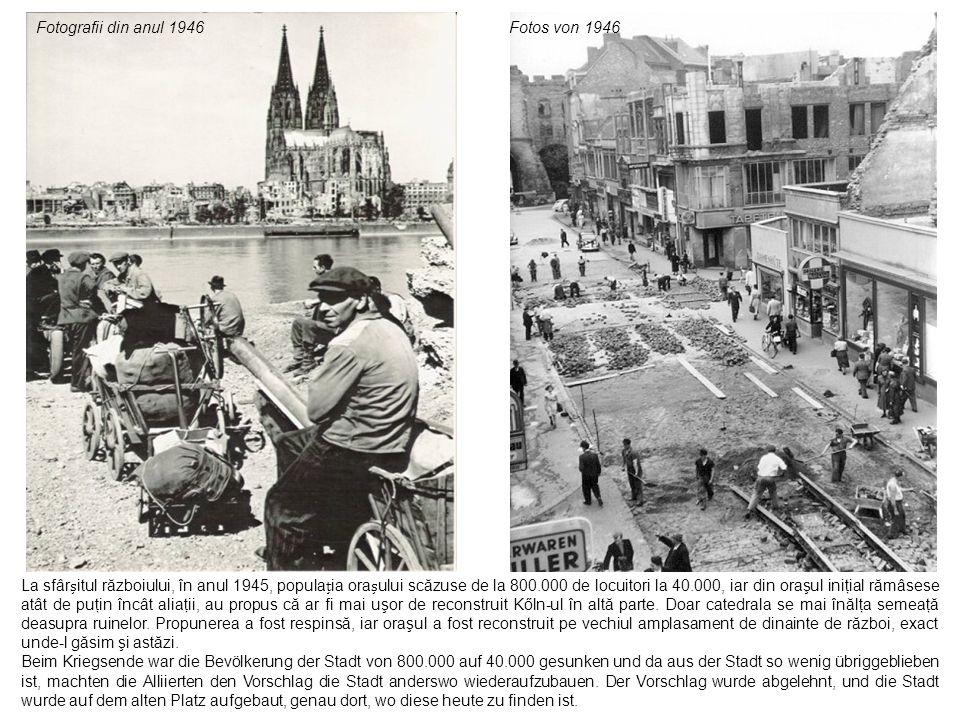 stânga şi dreapta sus: Turnul central a fost avariat în timpul celui de-al doilea război mondial, a fost reconstruit, lucrările terminându-se în anul 1965.