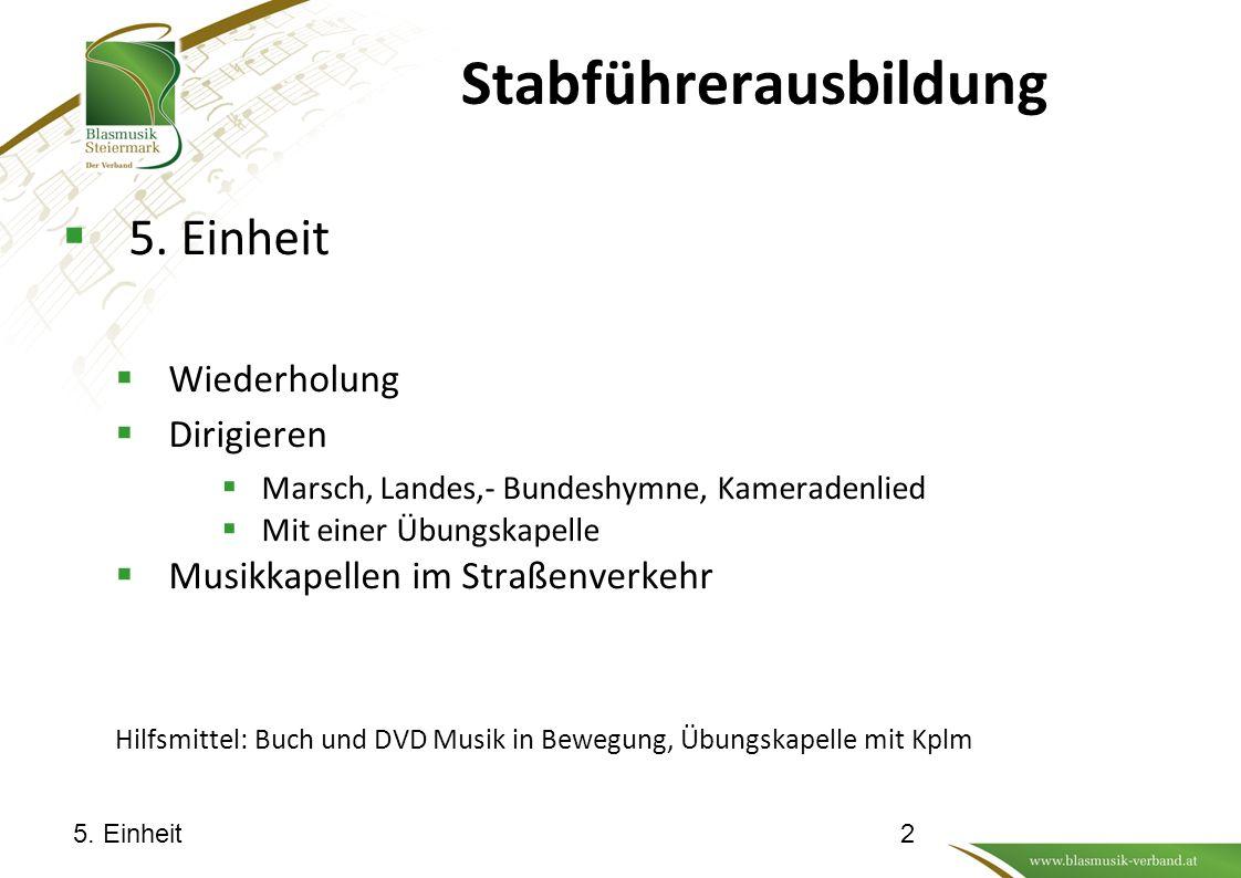 Stabführerausbildung  5.