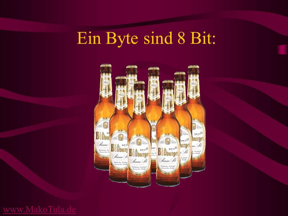 www.MakoTula.de Ein Byte sind 8 Bit: