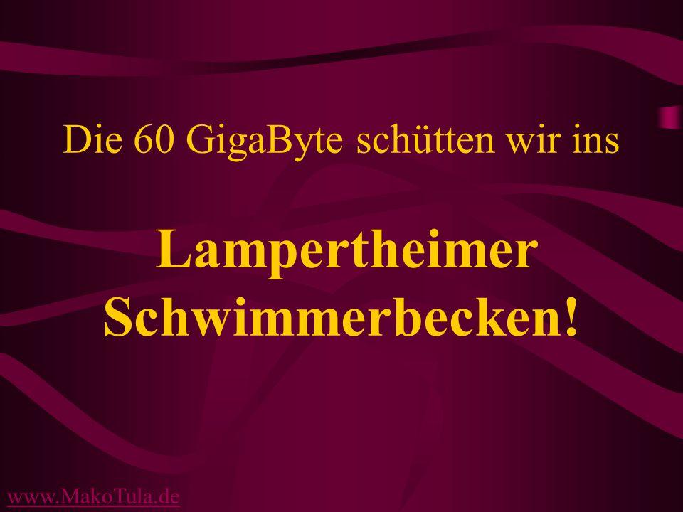 www.MakoTula.de Die 60 GigaByte schütten wir ins Lampertheimer Schwimmerbecken!