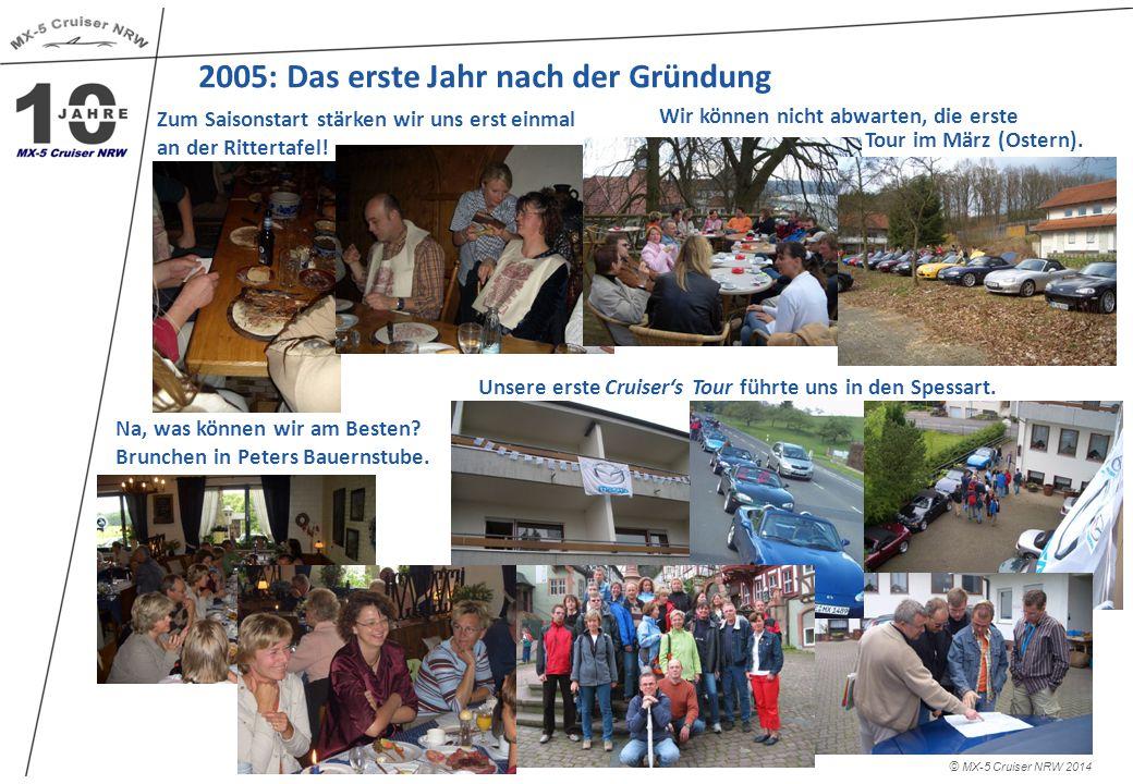 2005: Das erste Jahr nach der Gründung © MX-5 Cruiser NRW 2014 Wir können nicht abwarten, die erste Zum Saisonstart stärken wir uns erst einmal an der Rittertafel.