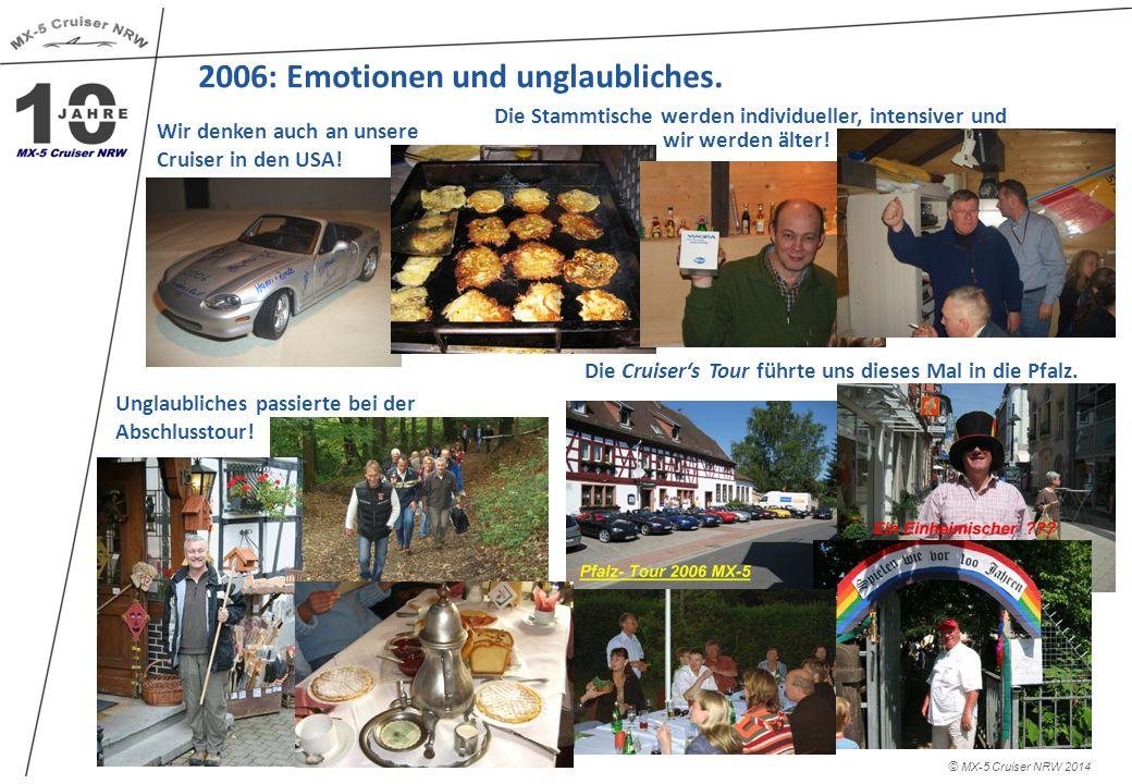 2007: Der Wahnsinn geht weiter.© MX-5 Cruiser NRW 2014 Das Jahr neigt sich dem Ende zu.