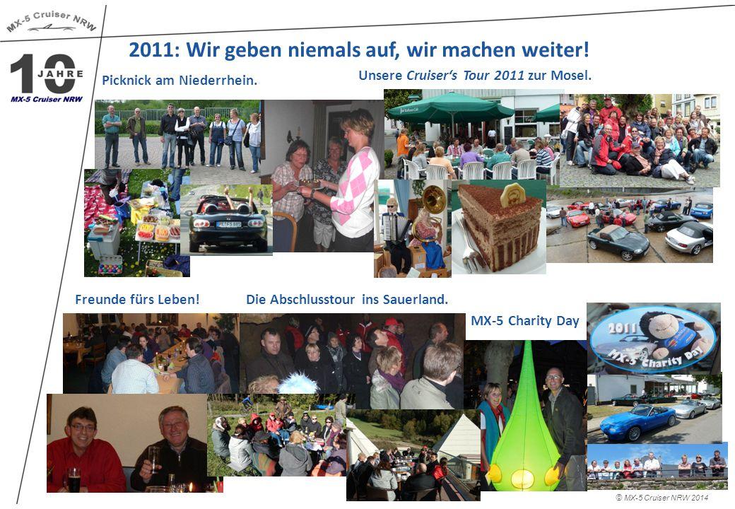 2011: Wir geben niemals auf, wir machen weiter.