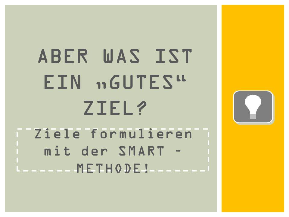 """Ziele formulieren mit der SMART – METHODE! ABER WAS IST EIN """"GUTES ZIEL?"""
