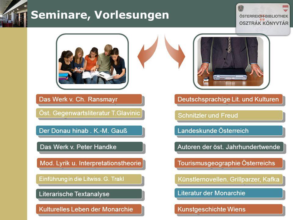 Das Werk v. Ch. Ransmayr Seminare, Vorlesungen Öst.
