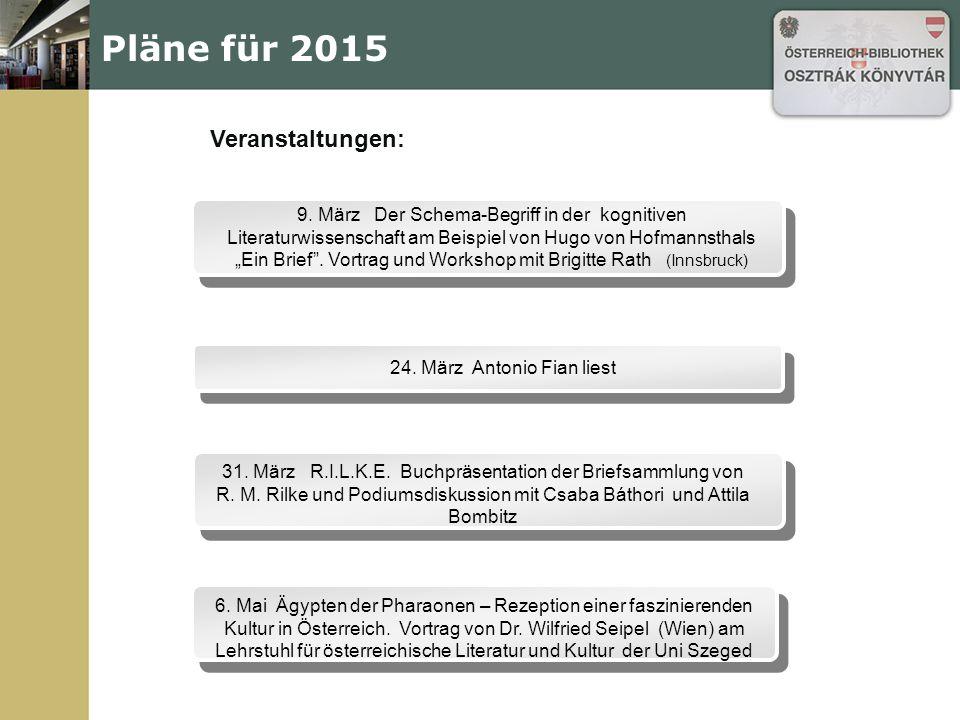 Pläne für 2015 9.