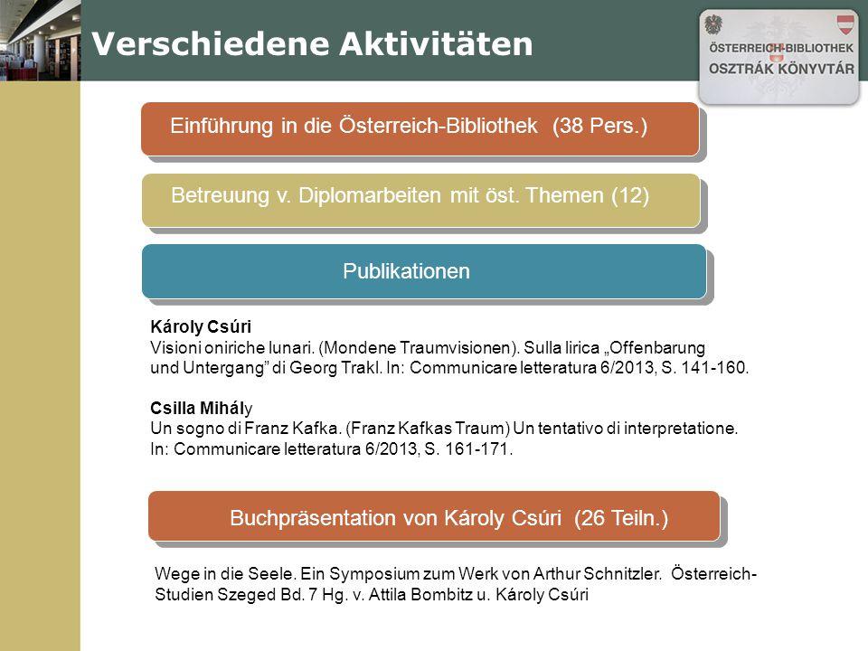 Das Werk v.Ch. Ransmayr Seminare, Vorlesungen Öst.