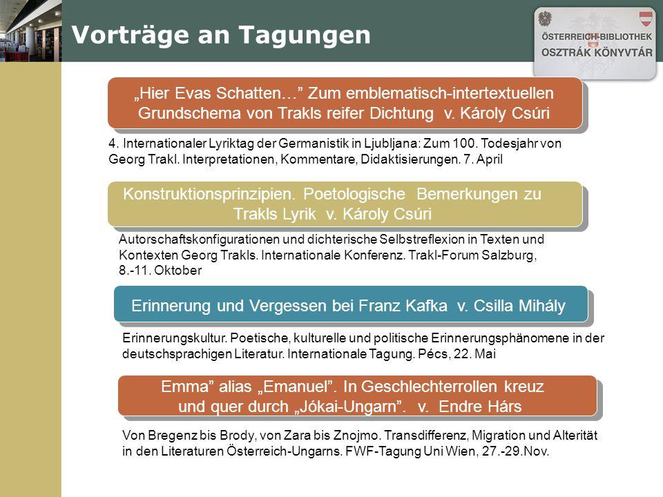Husar in der Hölle – 1914 Tagung: Ende einer Ära.1914 in den Literaturen der Donaumonarchie.