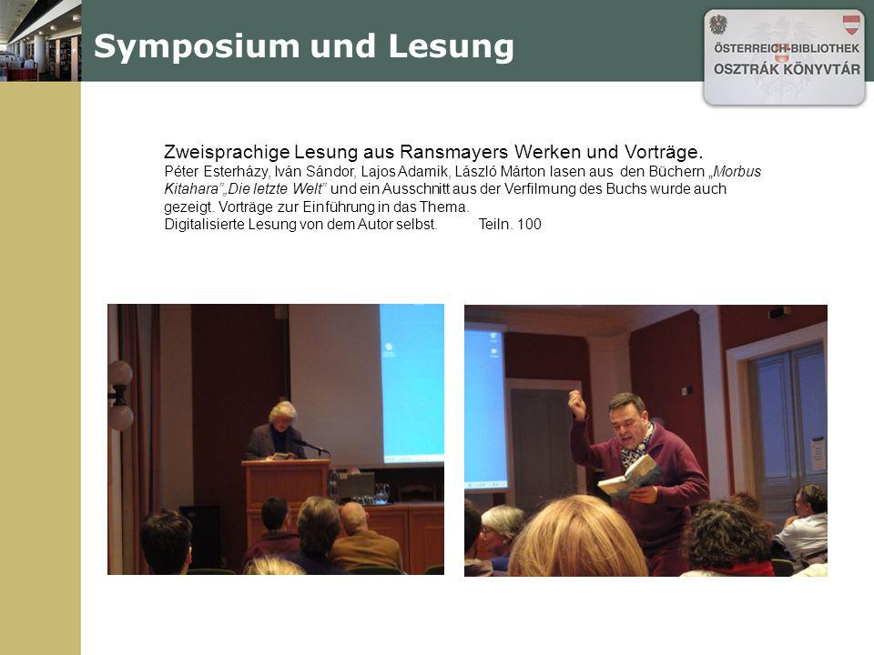 "Gastvorträge ""Szól a szem és szól a szív.. Eine Einführung ins philosophische Werk Rudolf Kassners."