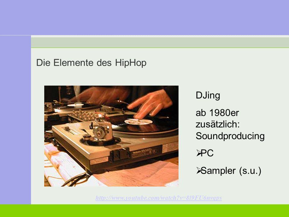 Die Elemente des HipHop Rap (Sprechgesang) (Human) Beatboxing (Vocussion) Rap-Battle Beatboxing