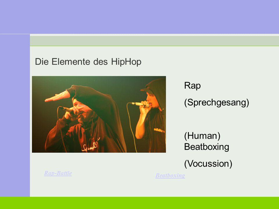 Die Elemente des HipHop Graffiti