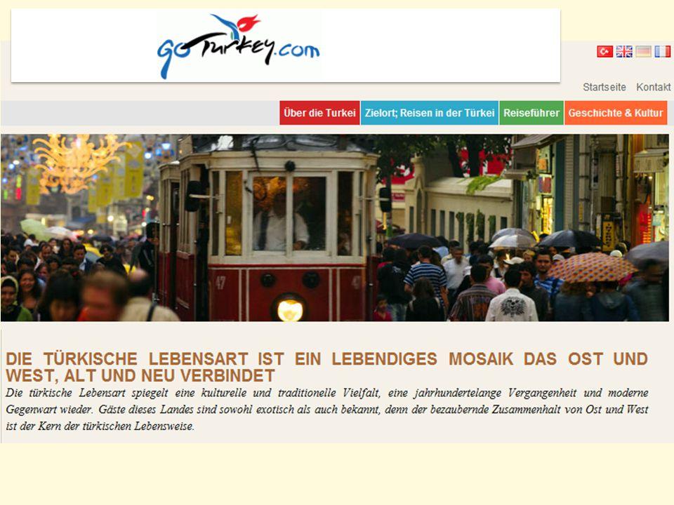 Daten für den türkischen Tourismus im Jahr 2011 31.5 Millionen internationale Touristenankünfte 23 Mrd.