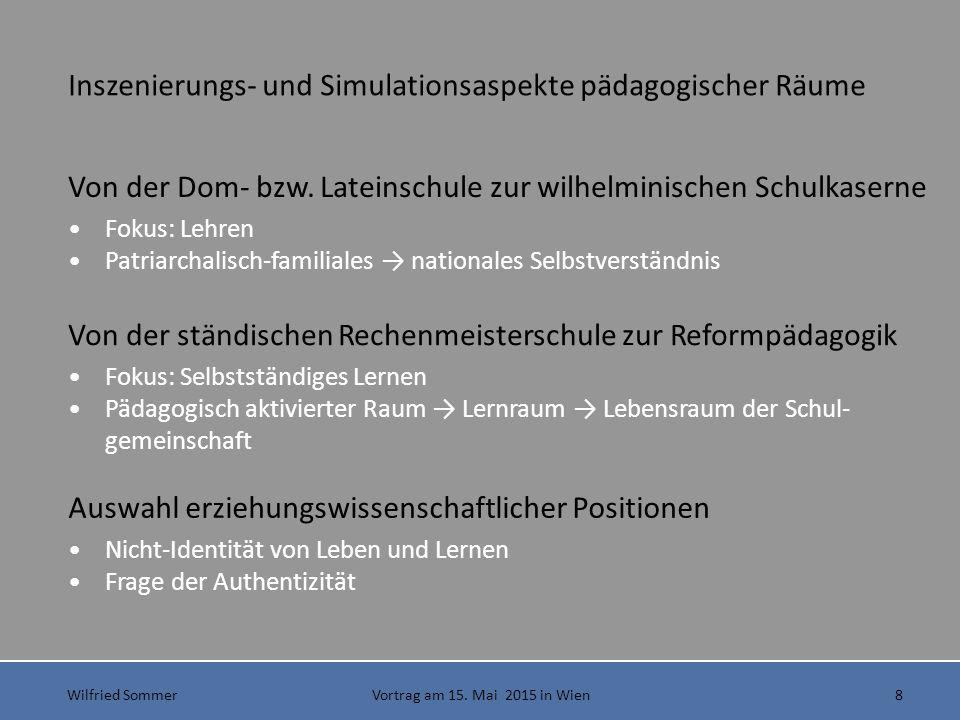 Wilfried Sommer Vortrag am 15.