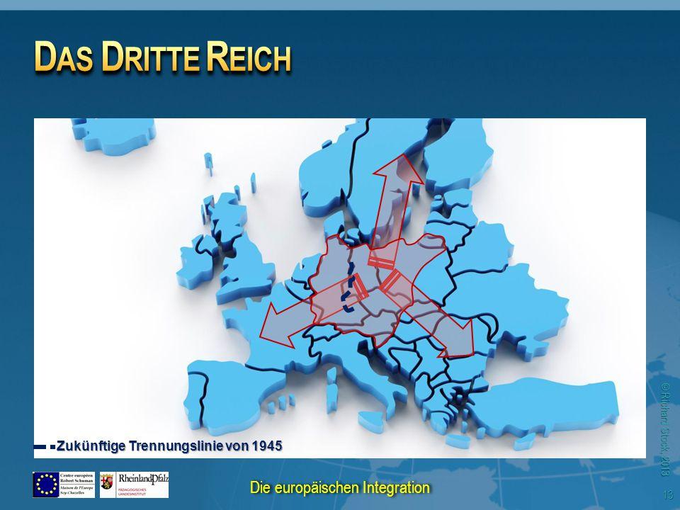 © Richard Stock, 2013 Zukünftige Trennungslinie von 1945 13 Die europäischen Integration
