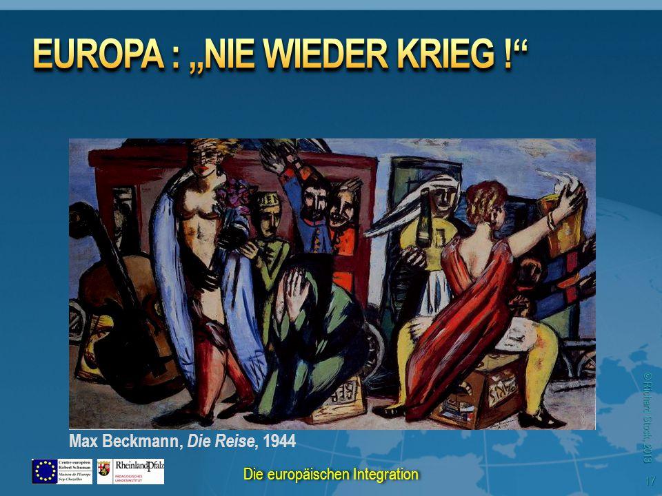 © Richard Stock, 2013 Max Beckmann, Die Reise, 1944 17 Die europäischen Integration