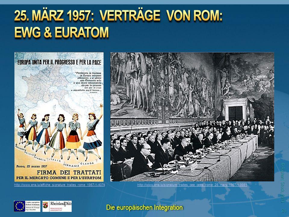 © Richard Stock, 2013 http://www.ena.lu/signature_traites_cee_ceea_rome_25_mars_1957-1-9981http://www.ena.lu/affiche_signature_traites_rome_1957-1-4074 24 Die europäischen Integration