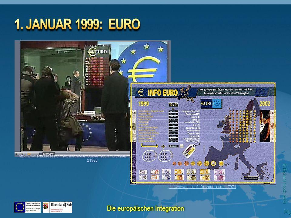 © Richard Stock, 2013 http://www.ena.lu/session_extraordinaire_conseil_ecofin_bruxelles_31_decembre_1998-1- 21986 http://www.ena.lu/info_zone_euro-1-7971 34 Die europäischen Integration
