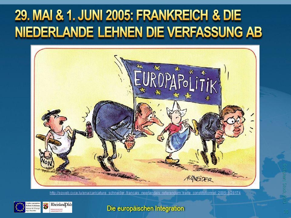 © Richard Stock, 2013 http://sgweb.cvce.lu/ena/caricature_schneider_francais_neerlandais_referendum_traite_constitutionnel_2005-1-28174 38 Die europäischen Integration
