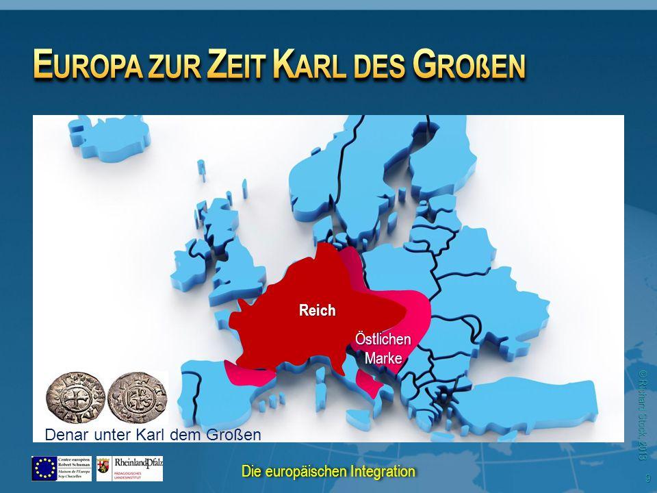 © Richard Stock, 2013 Reich Östlichen Marke Denar unter Karl dem Großen 9 Die europäischen Integration