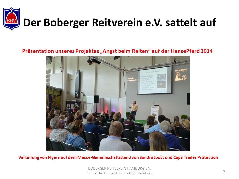Der Boberger Reitverein e.V.sattelt auf BOBERGER REITVEREIN HAMBURG e.V.