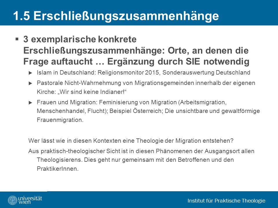 Institut für Praktische Theologie 2.Was ist eine Theologie der Migration.