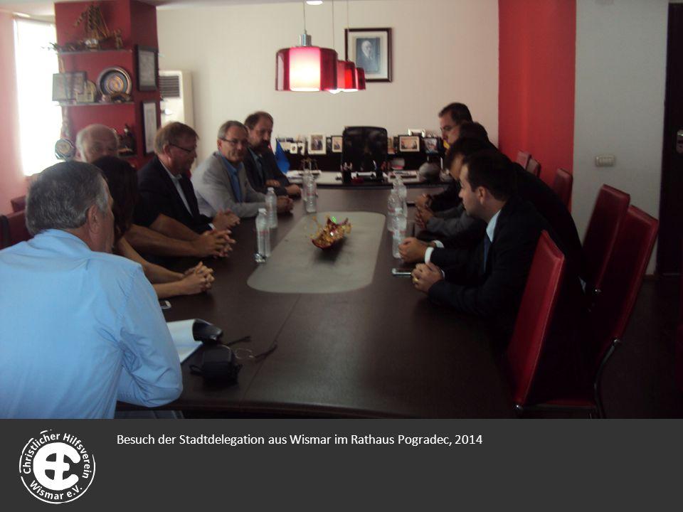 Besuch der Stadtdelegation aus Wismar im Rathaus Pogradec, 2014