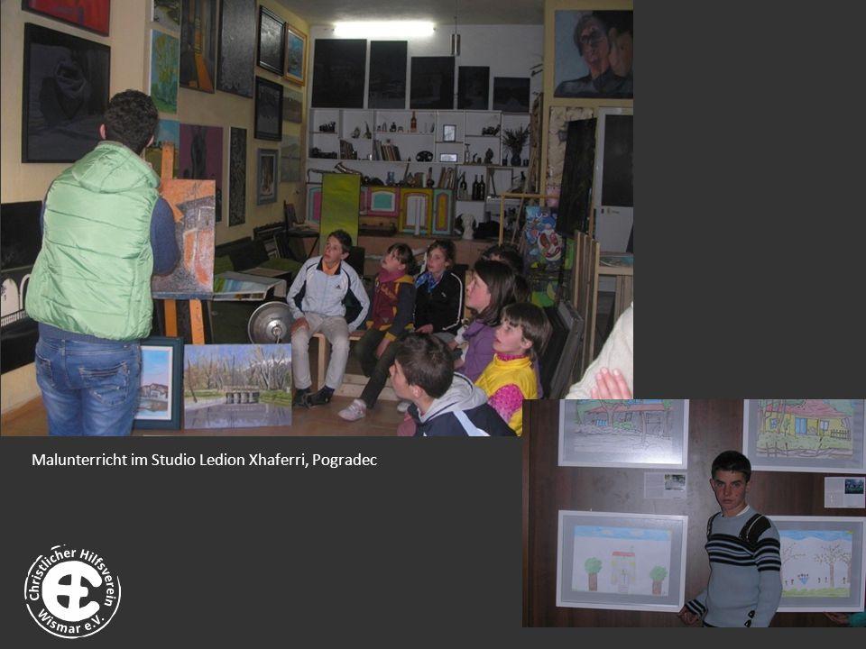 Malunterricht im Studio Ledion Xhaferri, Pogradec