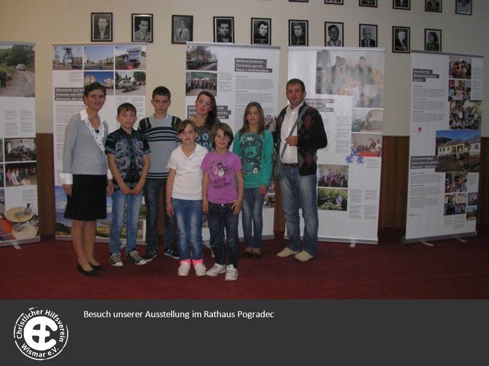 Besuch unserer Ausstellung im Rathaus Pogradec
