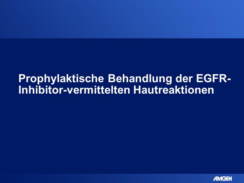 Prophylaktische Behandlung der EGFR- Inhibitor-vermittelten Hautreaktionen