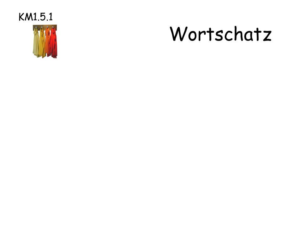 KM1.5.1 Wortschatz