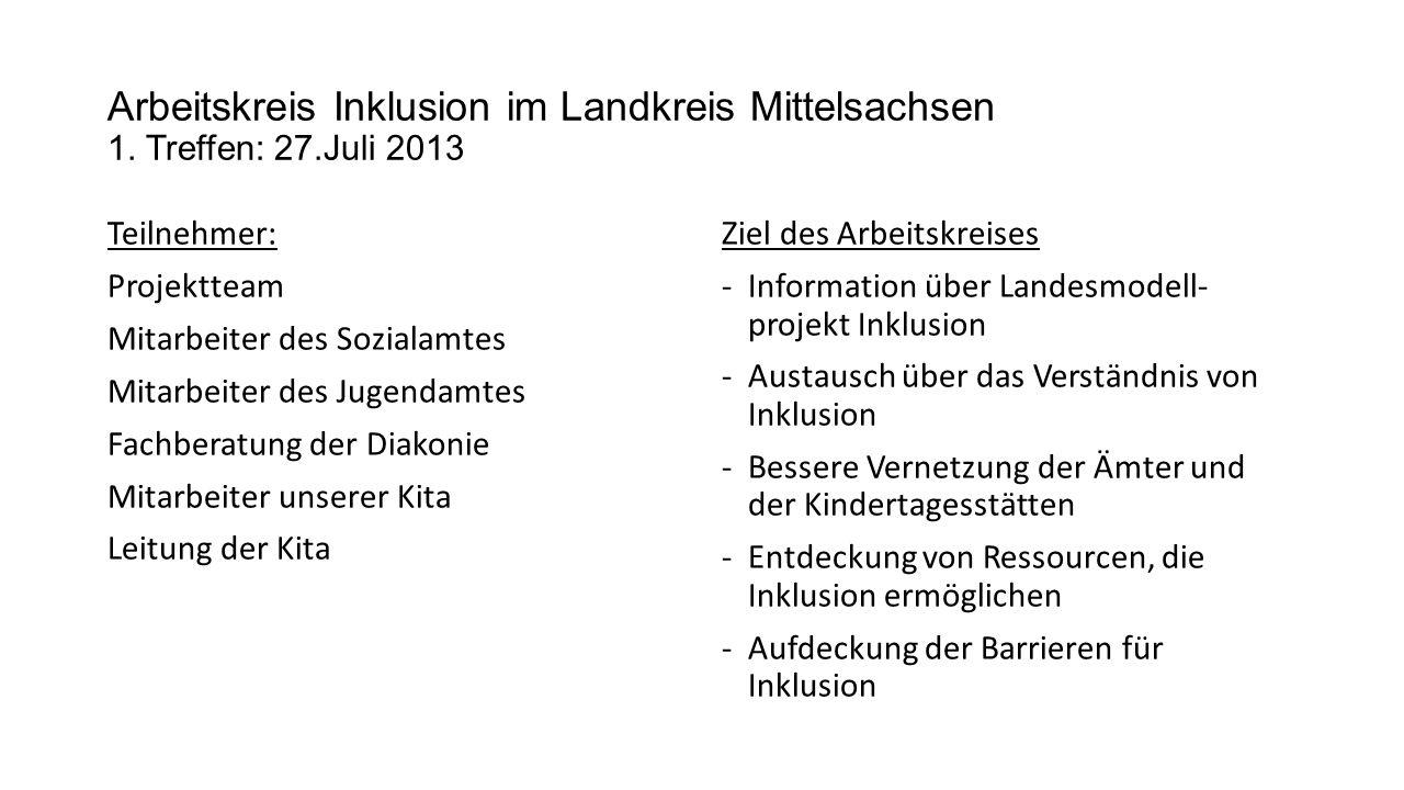 Arbeitskreis Inklusion im Landkreis Mittelsachsen 1.