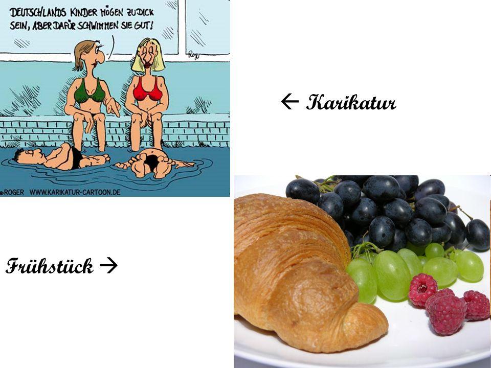 Frühstück   Karikatur