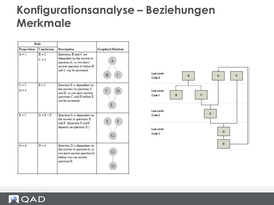 Konfigurationsanalyse – Beziehungen Merkmale