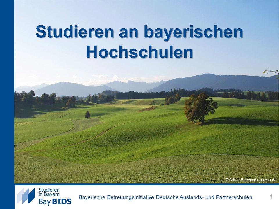 Inhalt 1.BayBIDS 2.Das Studium in Bayern 3.Uni oder HAW? 4.Die Bewerbung 5.Leben in Bayern 2