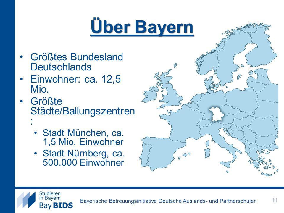 Größtes Bundesland Deutschlands Einwohner: ca.12,5 Mio.