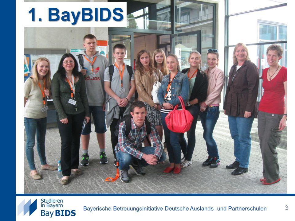 BayBIDS Bayerische Betreuungsinitiative Deutsche Auslands- und Partnerschulen: spezielle Initiative für diese Schulen.