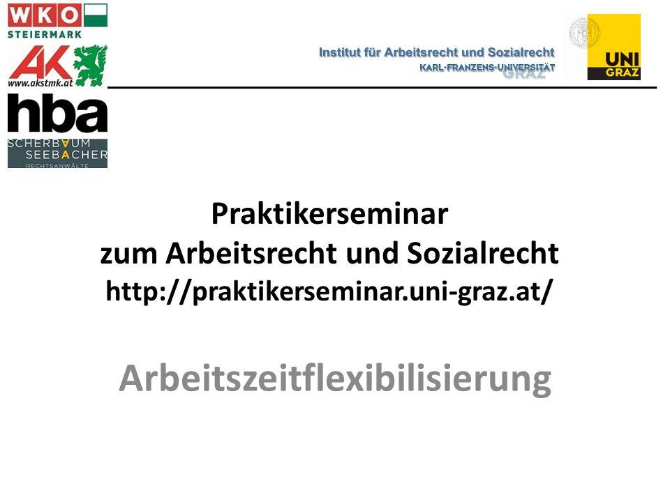 Praktikerseminar zum Arbeitsrecht und Sozialrecht http://praktikerseminar.uni-graz.at/ Arbeitszeitflexibilisierung