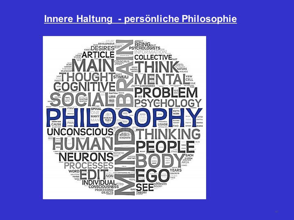 41 Innere Haltung - persönliche Philosophie