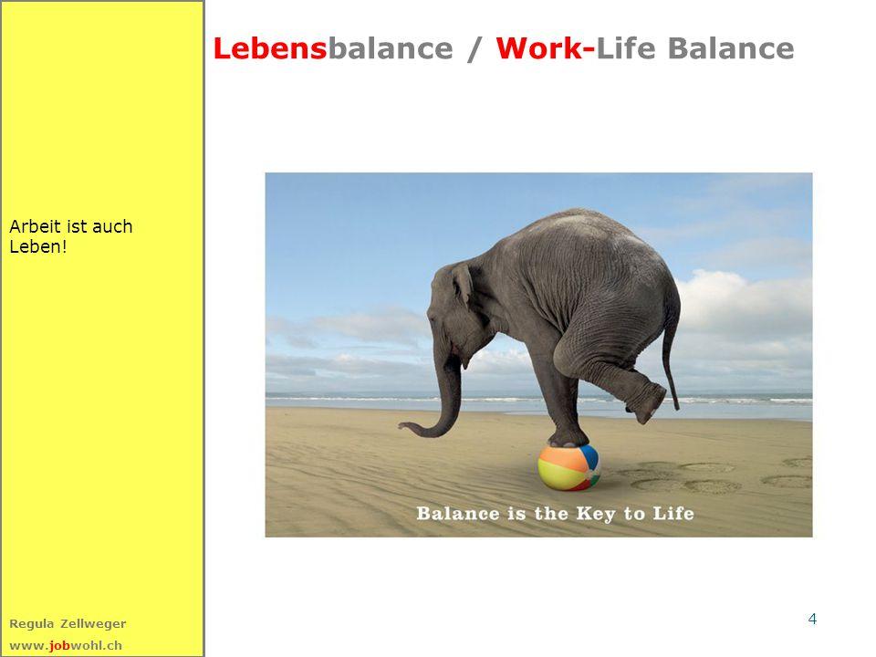 5 Regula Zellweger www.jobwohl.ch Am Anfang steht die Wahrnehmung Auf die Wirkung kommt es an