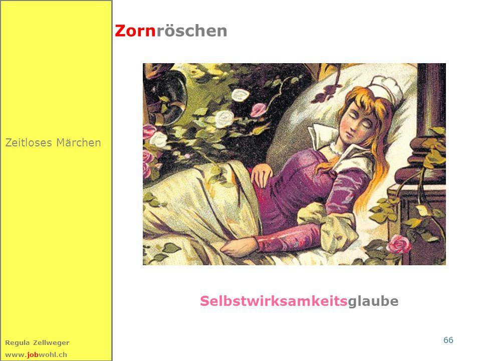 66 Regula Zellweger www.jobwohl.ch Zeitloses Märchen Zornröschen Selbstwirksamkeitsglaube