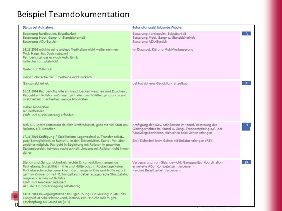 Beispiel Teamdokumentation