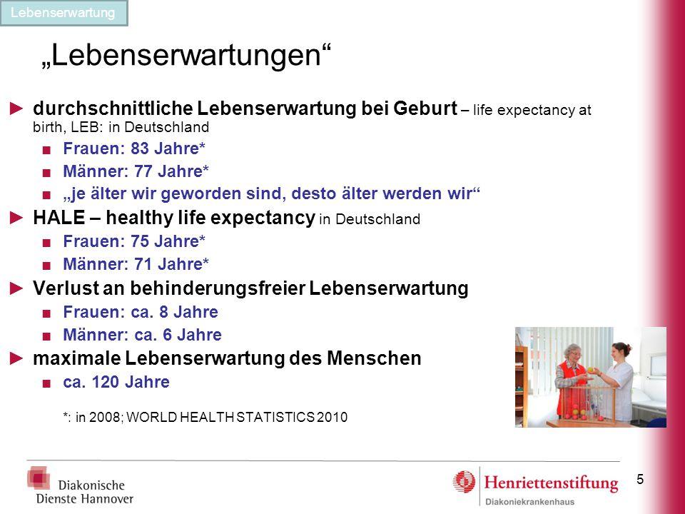 """""""Lebenserwartungen"""" ►durchschnittliche Lebenserwartung bei Geburt – life expectancy at birth, LEB: in Deutschland ■Frauen: 83 Jahre* ■Männer: 77 Jahre"""