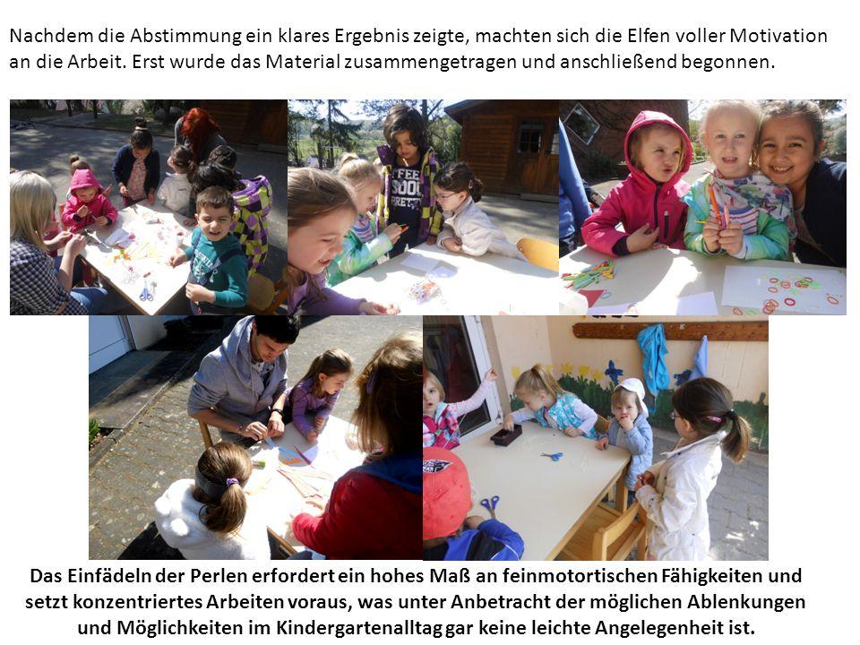 Nachdem die Abstimmung ein klares Ergebnis zeigte, machten sich die Elfen voller Motivation an die Arbeit.