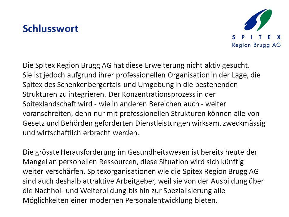 Schlusswort Die Spitex Region Brugg AG hat diese Erweiterung nicht aktiv gesucht.