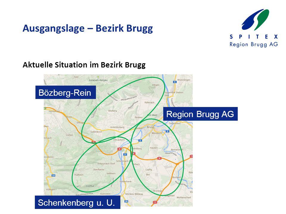 Ausgangslage – Bezirk Brugg Aktuelle Situation im Bezirk Brugg Region Brugg AG Bözberg-Rein Schenkenberg u.
