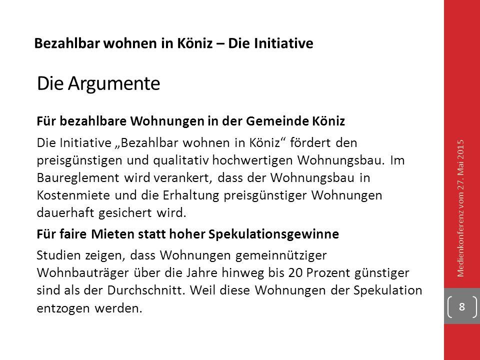 """Bezahlbar wohnen in Köniz – Die Initiative Die Argumente Für bezahlbare Wohnungen in der Gemeinde Köniz Die Initiative """"Bezahlbar wohnen in Köniz"""" för"""
