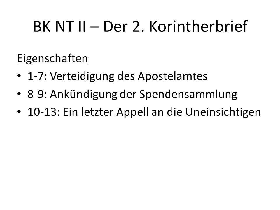 BK NT II – Der 2.